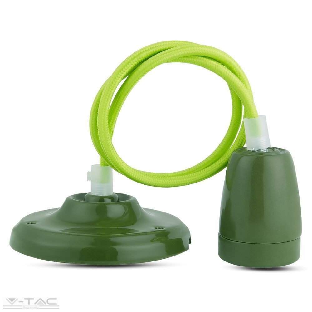 Porcelán függeszték zöld - 3805