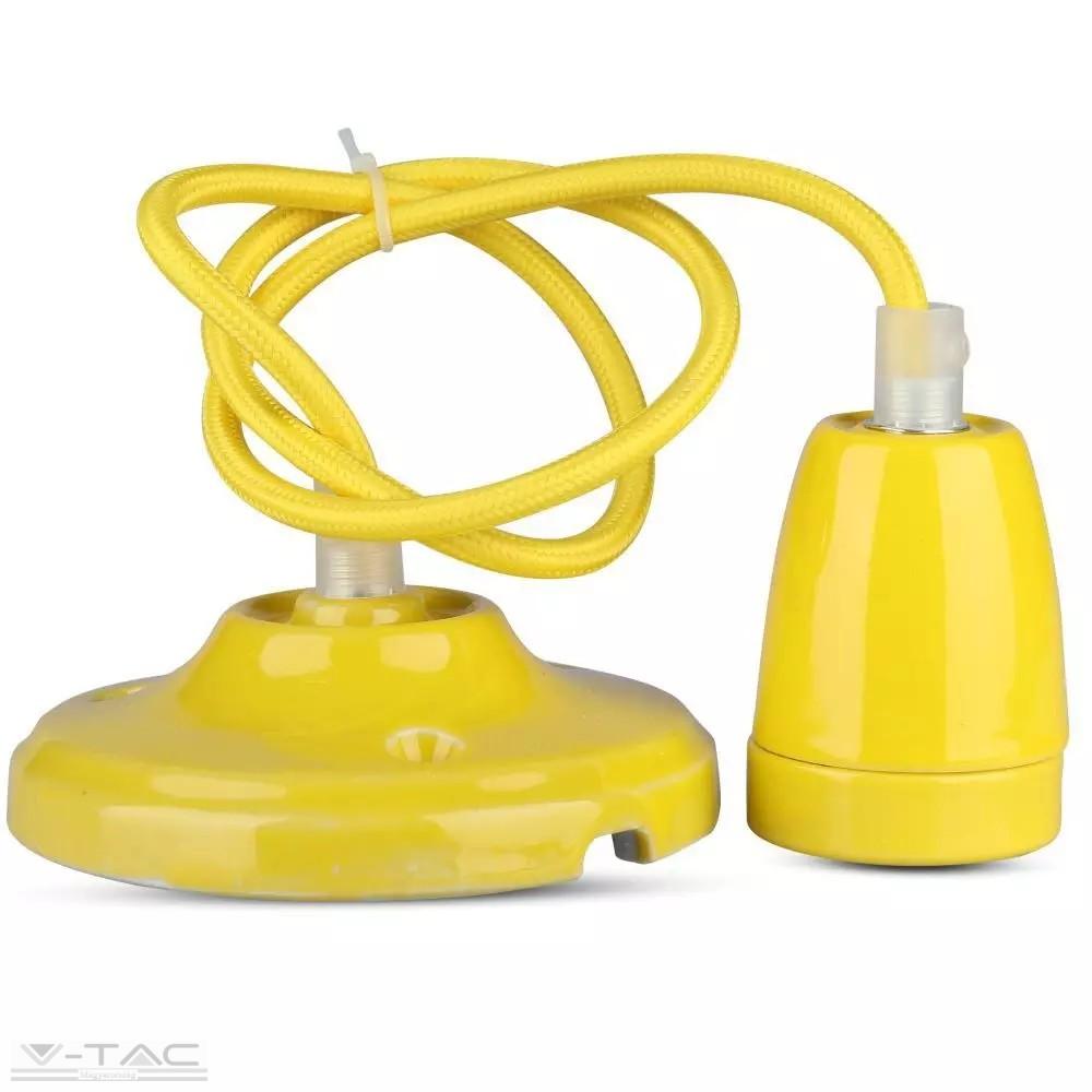 Porcelán függeszték sárga - 3809