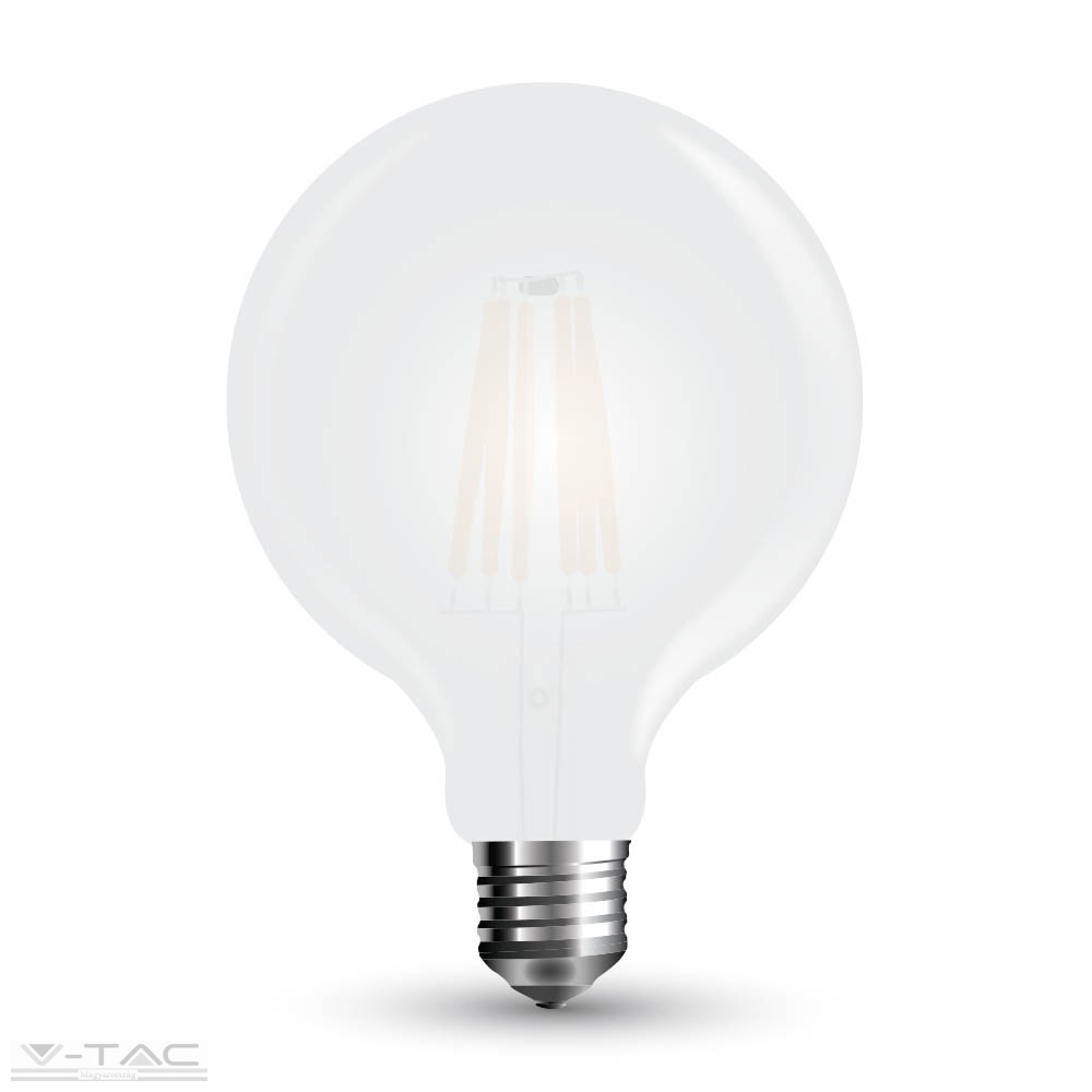 Retro LED izzó - 10W Filament E27 G125 Meleg fehér 7189