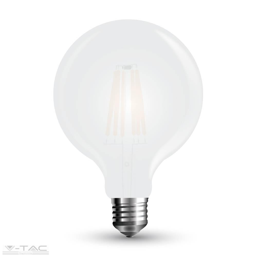 Retro LED izzó - 10W Filament E27 G125 Hideg fehér 7190