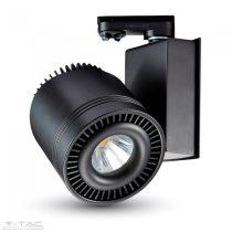 33W LED fekete sínes lámpatest CRI>95 6400K 2 év garancia - 1235