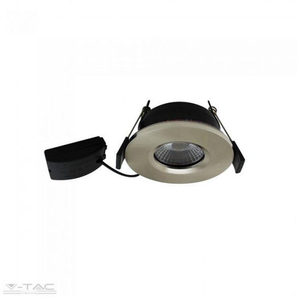 7W LED Nikkel tűzbiztos mélysugárzó tükröződésmentes lencsével 4000K - 1420