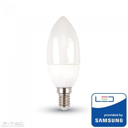 4,5W LED izzó Samsung chip E14 Gyertya 6400K A++ 5 év garancia - PRO260