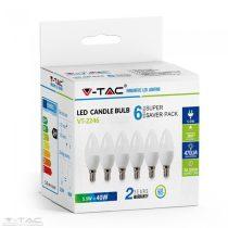 5,5W LED izzó E14 Gyertya 2700K 6db/csomag - 2736