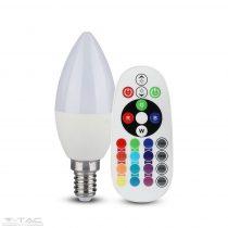 3,5W LED izzó E14 Gyertya RGB+CW 6400K - 2771