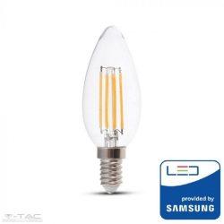Dimmelhető 4W Retro LED izzó Samsung chip E14 gyertya Meleg fehér - PRO278