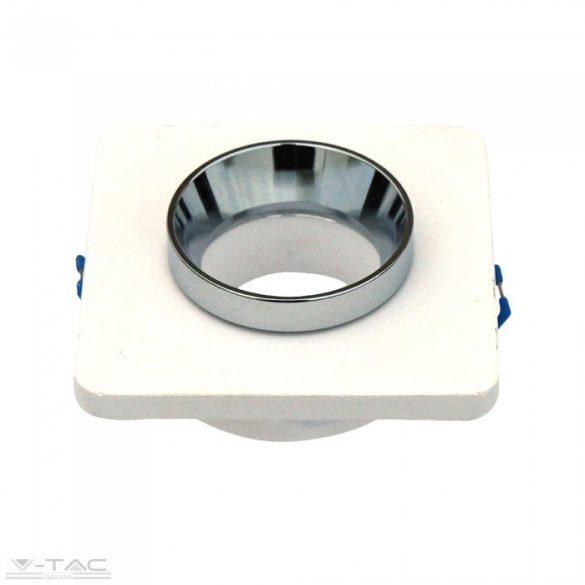 GU10 gipsz fix négyszög keret porcelán foglalattal - 3119