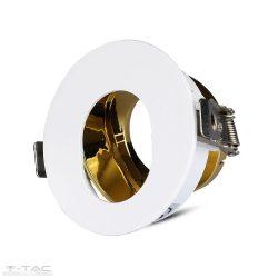 GU10 kör beépítőkeret fehér/arany - 3162