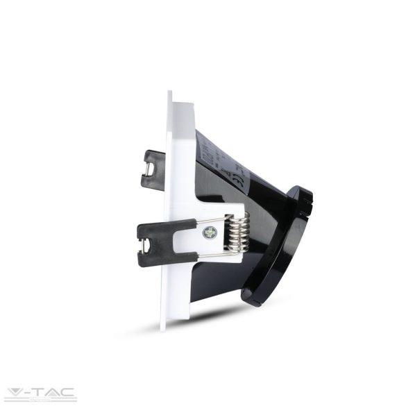 GU10 négyszög beépítőkeret fehér/fekete - 3165