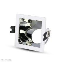 GU10 négyszög beépítőkeret fehér/króm - 3168