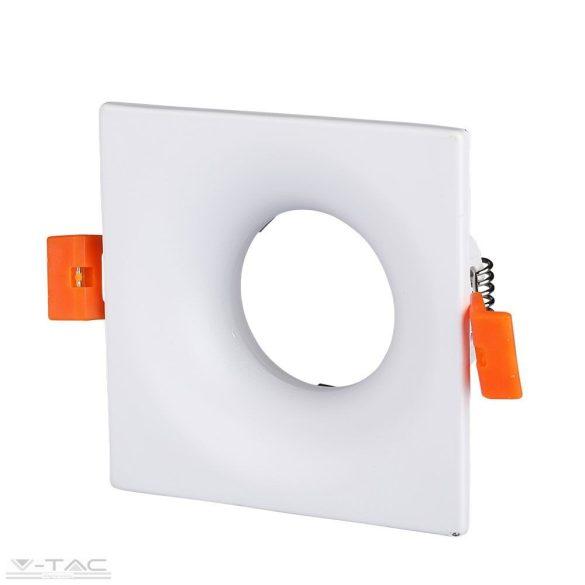 GU10 beépítőkeret négyszög fehér - 3170