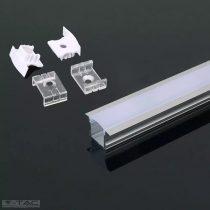 Alumínium profil LED szalaghoz 2 méter tejfehér fedlappal - 3351