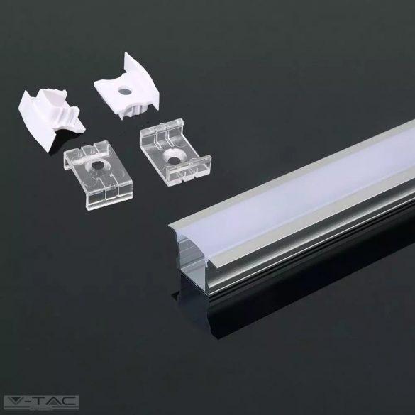Alumínium profil 2 méter tejfehér fedlappal - 3351