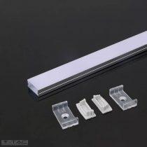 Alumínium profil LED szalaghoz 2 méter tejfehér fedlappal - 3352