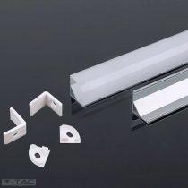 Alumínium sarok profil 2 méter tejfehér fedlappal - 3353