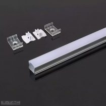 Alumínium profil 2 méter tejfehér fedlappal - 3354