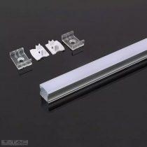 Alumínium profil LED szalaghoz 2 méter tejfehér fedlappal - 3354