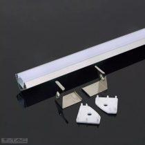 Alumínium sarok profil 2 méter tejfehér fedlappal - 3356