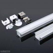 Alumínium profil 2 méter tejfehér fedlappal - 3357