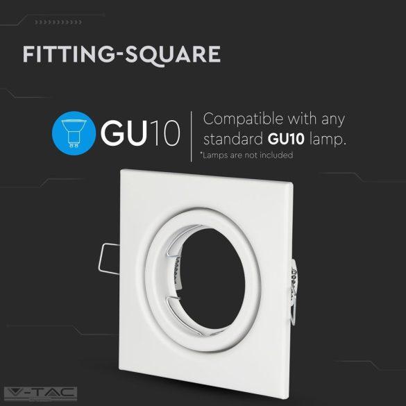 GU10 keret szögletes fehér - 3472