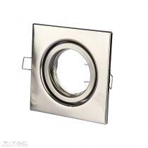 GU10 keret szögletes nikkel - 3473