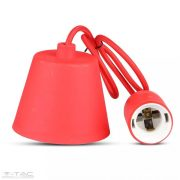 Függő lámpatest E27 piros - 3480