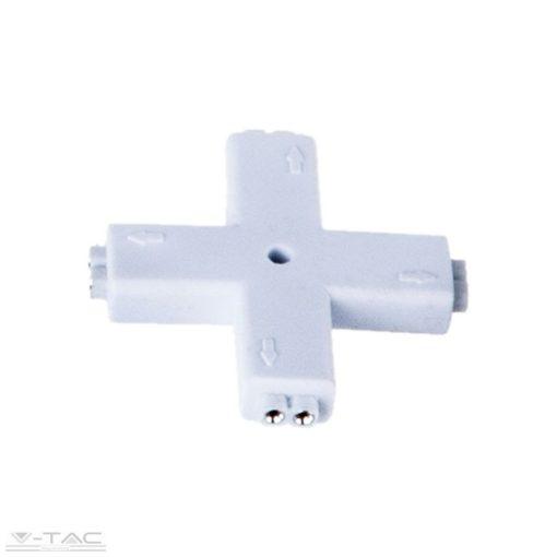 Csatlakozó kereszt típusú 8 mm-es LED szalaghoz - 3509