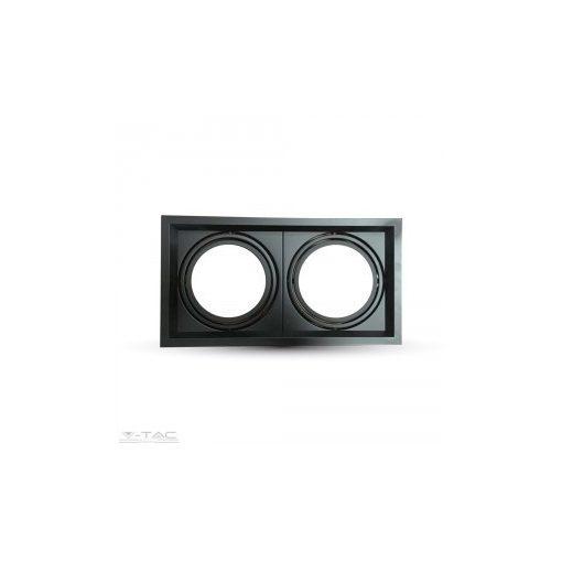 2x szerelék AR111-es fényforráshoz fekete - 3582