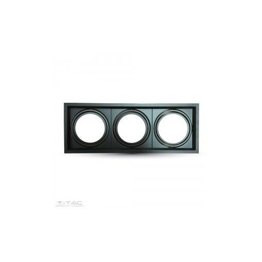 3x szerelék AR111-es fényforráshoz fekete - 3583