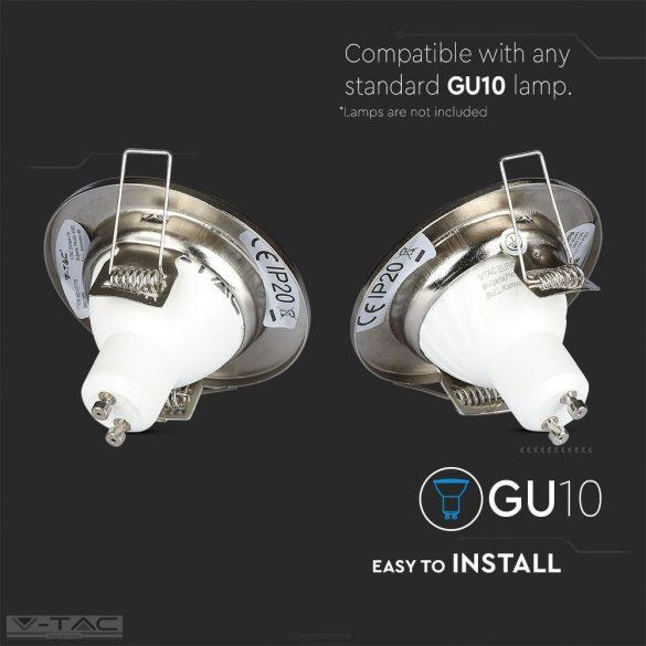 GU10 beépítőkeret nikkel 2db/csomag kör - 3585