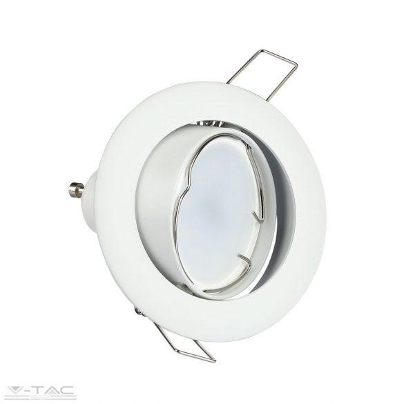 GU10 beépítőkeret fehér kör - 3587