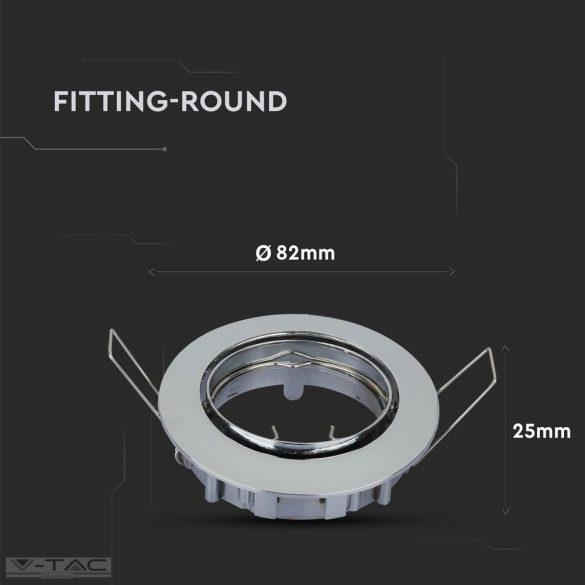 GU10 beépítőkeret nikkel kör - 3589