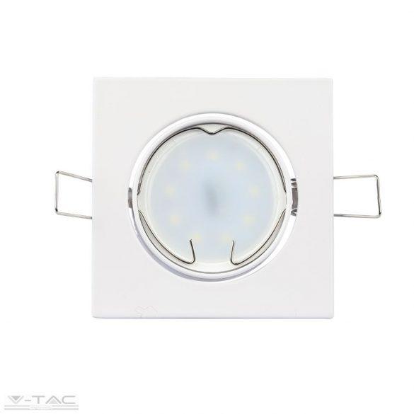GU10 beépítőkeret szögletes fehér - 3590