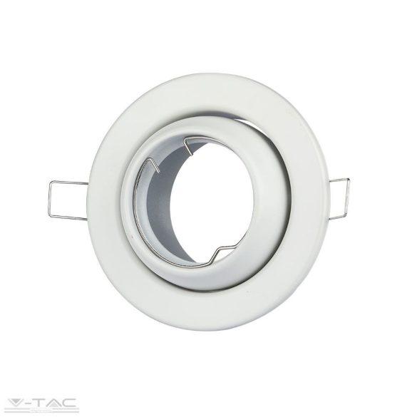GU10 billenthető keret fehér kör - 3593