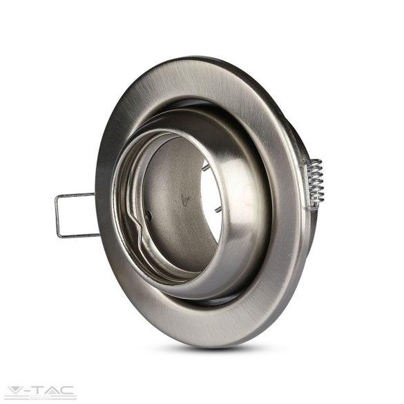 GU10 billenthető keret nikkel kör - 3594