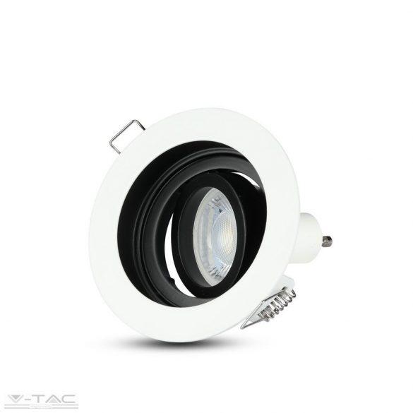 GU10 beépítőkeret fehér kör - 3595