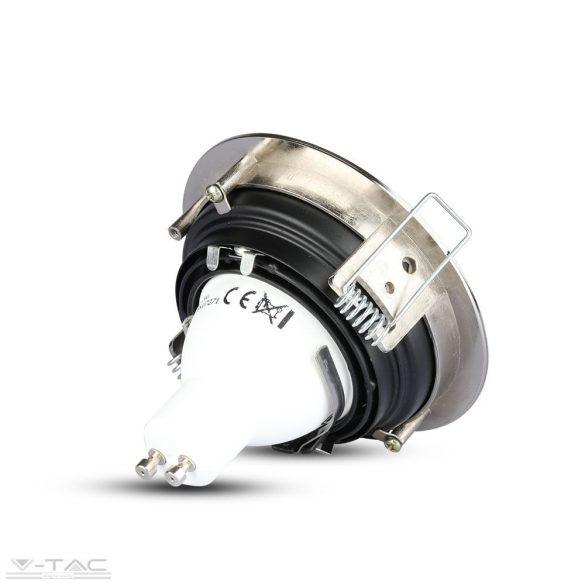 GU10 beépítőkeret nikkel kör - 3596