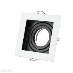 GU10 beépítőkeret szögletes fehér - 3597