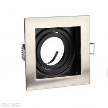 GU10 beépítőkeret szögletes nikkel - 3598