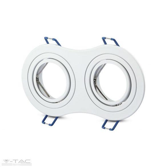 GU10 keret dupla kör alakú fehér - 3601