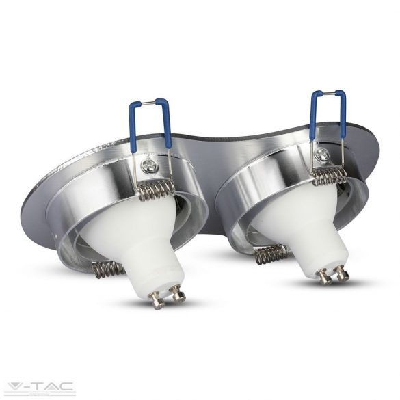 GU10 beépítőkeret dupla alumínium kör - 3602