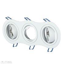 GU10 keret tripla kör alakú fehér - 3603