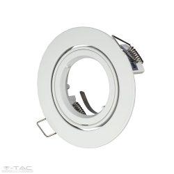 GU10 beépítőkeret fehér kör - 3645