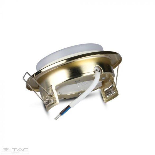 GX53 beépítőkeret foglalattal arany - 3676