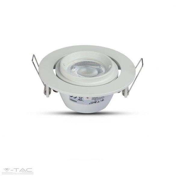 GU10 beépítőkeret forgatható fehér kör - 3689