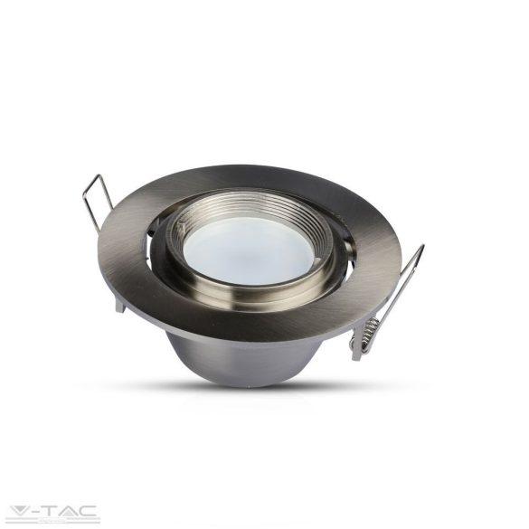 GU10 beépítőkeret forgatható nikkel kör - 3690