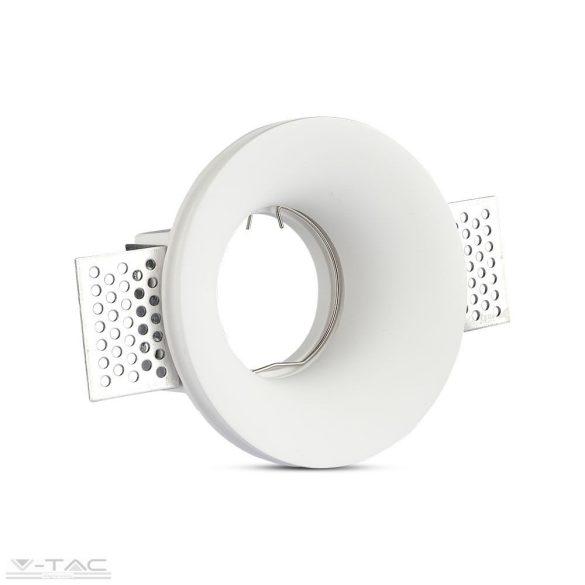 GU10 beépítőkeret fehér gipsz kör - 3697