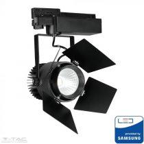 33W LED fekete sínes lámpatest Samsung chip 4000K 5 év garancia - PRO372