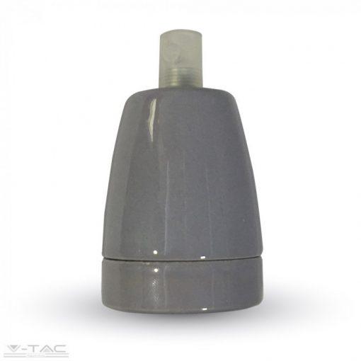 Porcelán E27 foglalat szürke - 3800