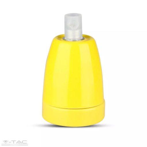 Porcelán E27 foglalat sárga - 3801